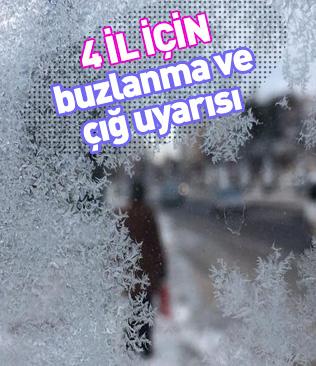 Doğu Anadolu Bölgesi için buzlanma ve çığ uyarısında bulunuldu