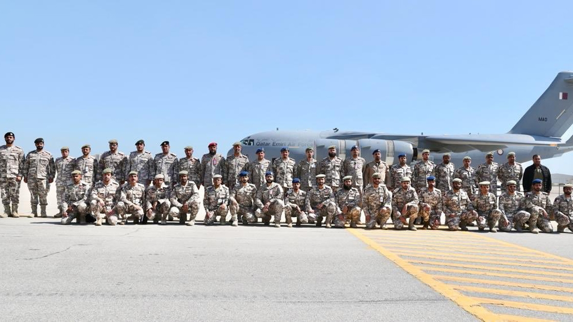 Katar, Suudi Arabistan'daki ortak askeri tatbikata katılıyor