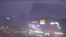 212 AVM'nin yanındaki iş merkezinde henüz belirlenemeyen bir nedenle yangın çıktı