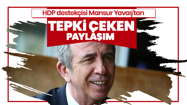 HDP'nin desteklediği Yavaş'tan tepki çeken paylaşım