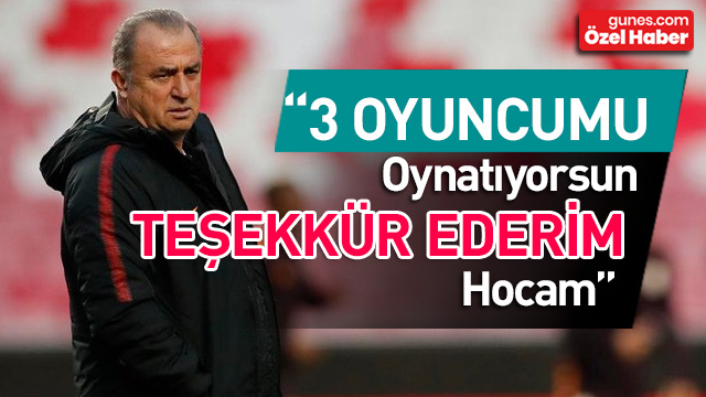 Fatih Terim'e özel teşekkür! '3 futbolcuma değer kattın teşekkürler hocam'