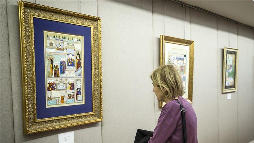 'Süleymanname' adlı minyatür sergisi sanat severlerle buluştu