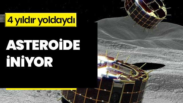Japon uzay aracı asteroide iniyor
