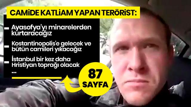 Cami katliamını gerçekleştiren terörist Türkleri de hedef almış