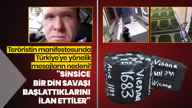 Teröristin manifestosunda Türkiye'ye yönelik mesajların nedeni