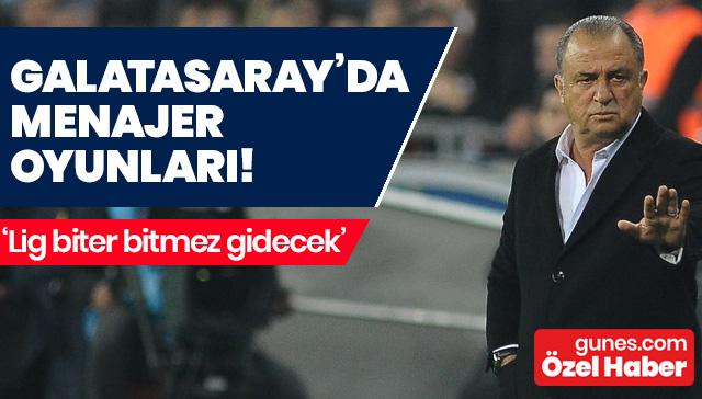 Galatasaray'da menajer oyunları! Terim sezon sonunda gönderecek