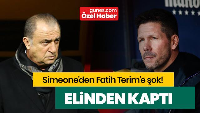 Diego Simeone'den Fatih Terim'e şok! Elinden kaptı