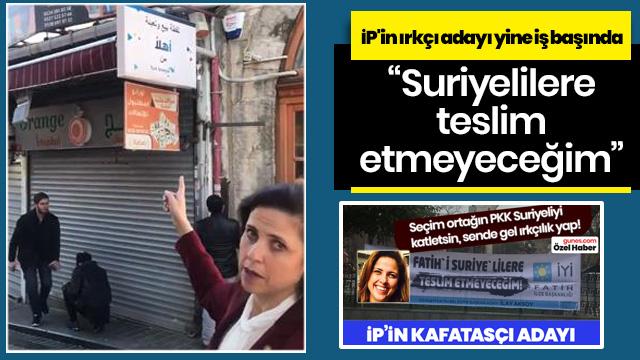 İP'in ırkçı adayı İlay Aksoy yine iş başında