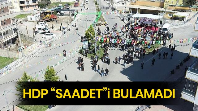 HDP'nin Nevruz alanı boş kaldı