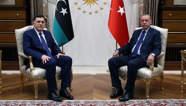 Başkan Erdoğan, Libya Başkanlık Konseyi Başkanı Al Sarraj'ı kabul etti