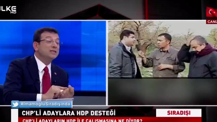 HDPKK sorusu Zillet İttifakının adayı İmamoğlu'nu afallattı