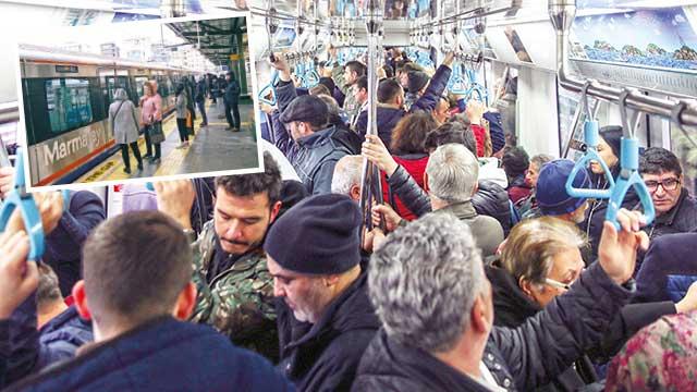 Banliyö treninde yolcu rekoru
