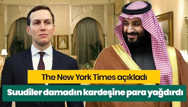 Suudiler damadın kardeşine para yağdırdı