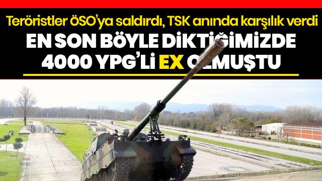 Terör örgütü YPG/PKK Tel Rıfat'tan Azez'de konuşlu ÖSO mevzilerine saldırdı