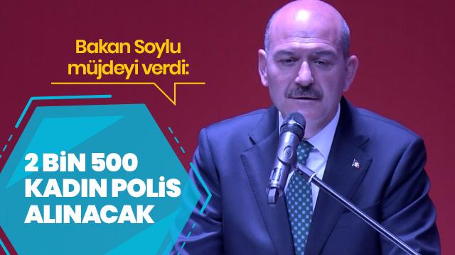 '2 bin 500 kadın polis alınacak'