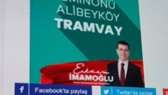 Ekrem İmamoğlu, İBB'nin yaptığı Eminönü-Alibeyköy tramvayı vaadinde bulundu