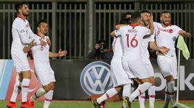 A Milli Futbol Takımı, konuk olduğu Arnavutluk'u 2-0'la geçti