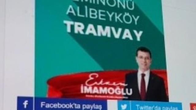 Ekrem İmamoğlu, yapılmış tramvayı vadetti