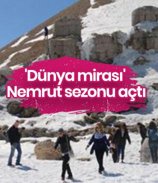 'Dünya mirası' Nemrut sezonu açtı
