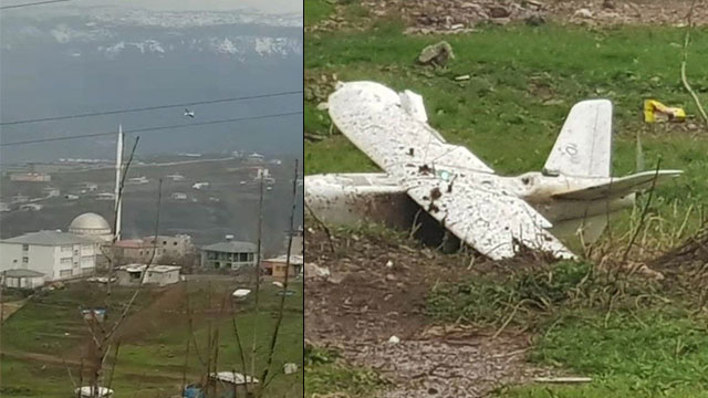 PKK'lı Teröristlerin gönderdiği patlayıcı yüklü İHA düşürüldü