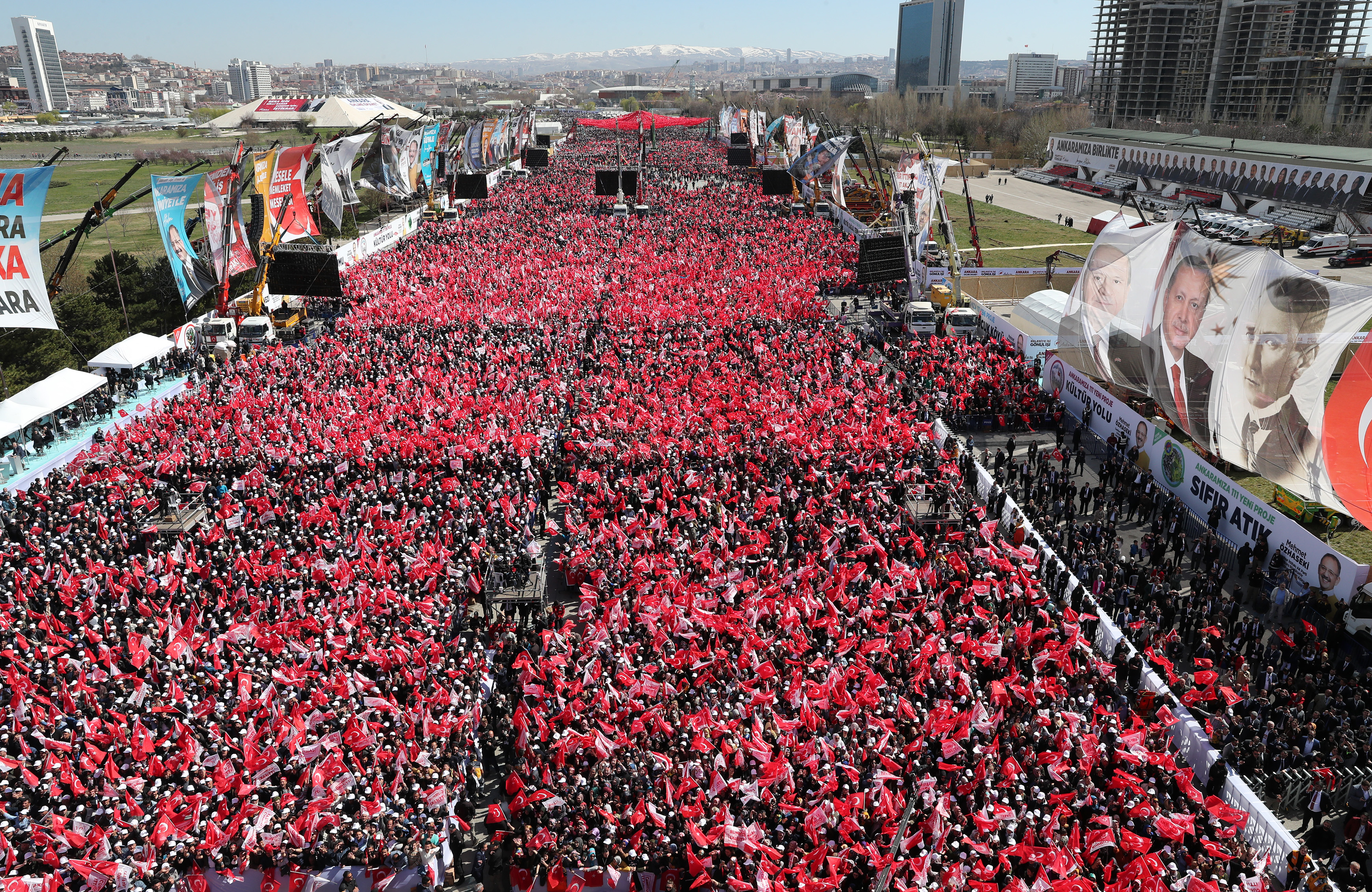 Cumhur İttifakı Ankara mitinginden kareler