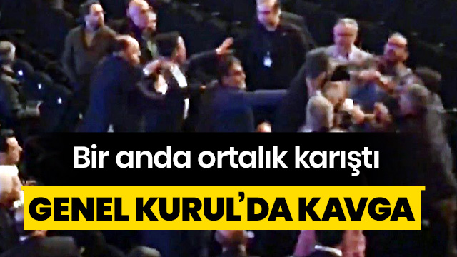 Bursaspor Genel Kurulu'nda kavga