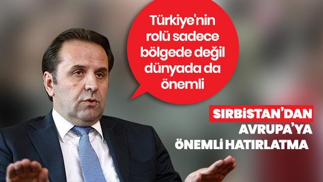 """""""Türkiye'nin rolü dünyada da önemli"""""""