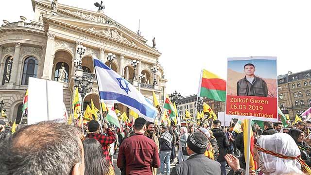 PKK'dan İsrail bayraklı kutlama