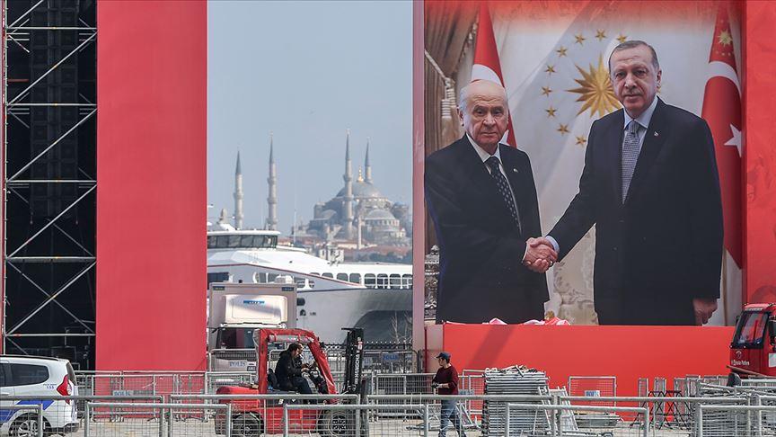 Cumhur İttifakı'nın 'Büyük İstanbul Mitingi' için vatandaşlar Yenikapı'da toplanıyor