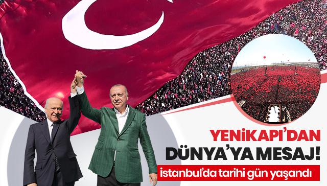 Cumhur İttifakı'nın 'Büyük İstanbul Mitingi' için vatandaşlar Yenikapı'da toplandı
