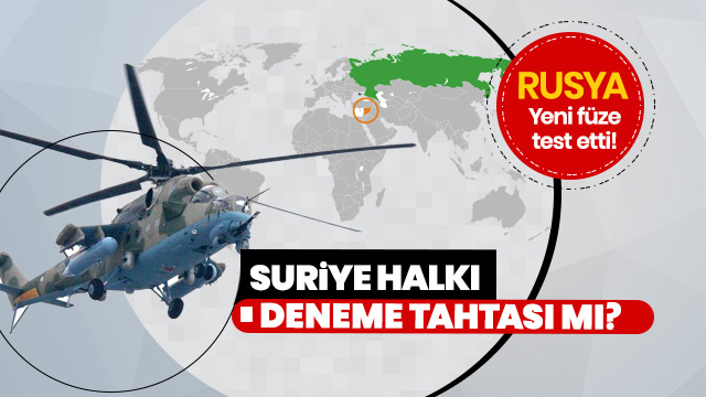 Rusya, Mi-28NM helikopteri ile füzelerini Suriye'de denemeye devam ediyor!