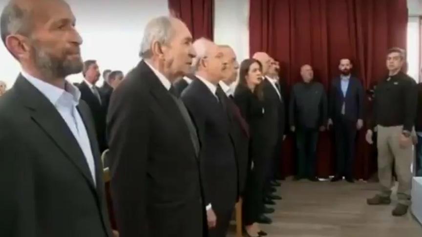 Zillet İttifakında bunu da gördük: CHP'li aday Erdem Gül İstiklal Marşı'nı okumadı!