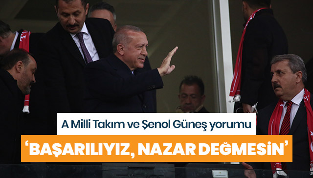 Cumhurbaşkanı Erdoğan'dan A milli Takım ve Şenol Güneş yorumu