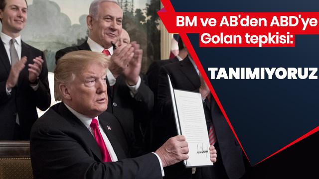'Golan'ın statüsü değişmedi'