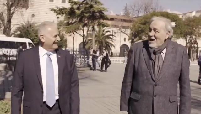 Binali Yıldırım ünlü tarihçi Ortaylı ile Sultanahmet videosu büyük beğeni topladı