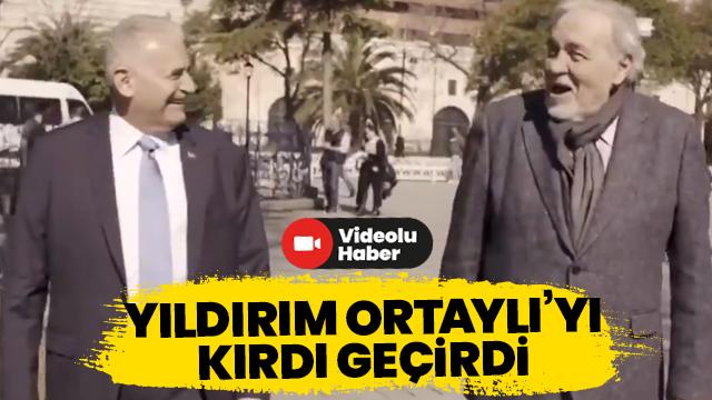Binali Yıldırım ünlü tarihçi Ortaylı ile Sultanahmet yürüyüşünde
