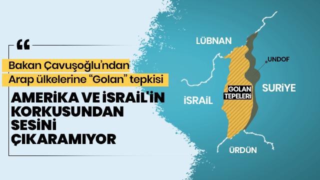 Bakan Çavuşoğlu'ndan Golan tepkisi!