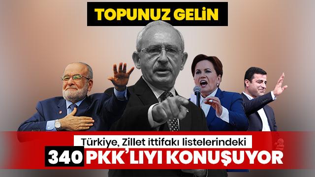Türkiye, Zillet İttifakı listelerindeki 340 PKK'lıyı konuşuyor