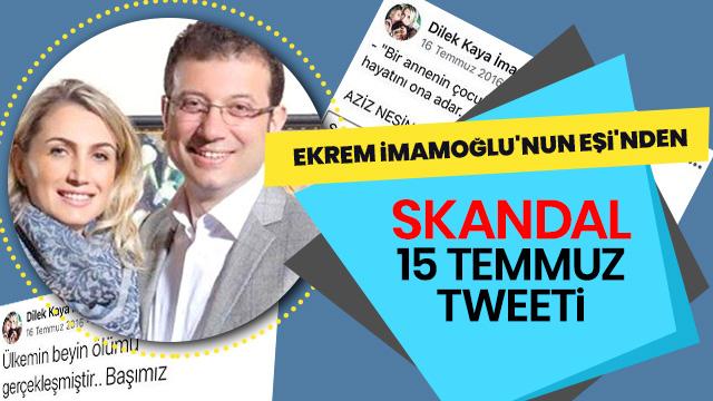 Ekrem Imamoğlunun Eşi 15 Temmuz Gecesi Twitterda Bakın Neler