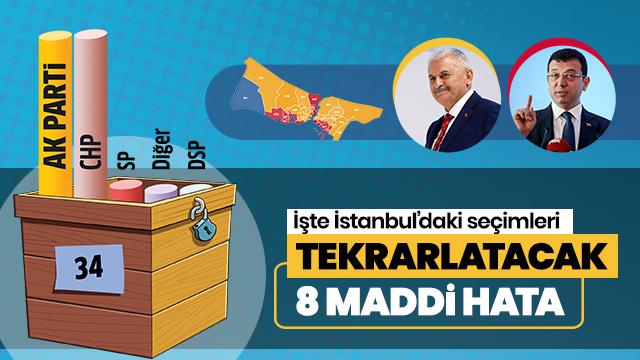 İstanbul'da seçimi tekrarlatacak 8 maddi hata