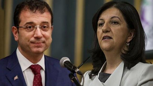 HDP'li Pervin Buldan'dan skandal Ekrem İmamoğlu itirafı
