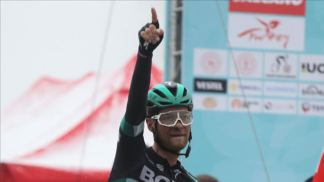 55. Cumhurbaşkanlığı Türkiye Bisiklet Turu'nun beşinci gününün kazananı Felix Grossschartner