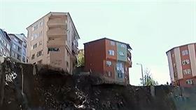 Kağıthane'de bina çöktü çevresindeki 21 bina tahliye edildi
