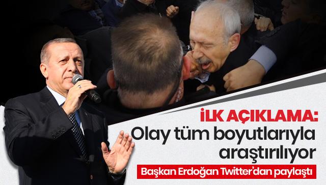 Başkan Erdoğan'dan Kılıçdaroğlu açıklaması: Olay tüm boyutuyla soruşturulmaktadır