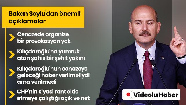 Son Dakika Haber... Bakan Süleyman Soylu, Kemal Kılıçdaroğlu'na yönelik saldırı hakkında açıklamalarda bulundu