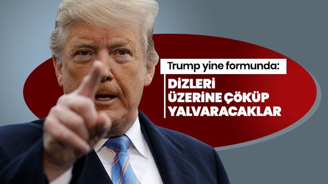 ABD Başkanı Trump: Dizleri üzerine çöküp af için yalvaracaklar