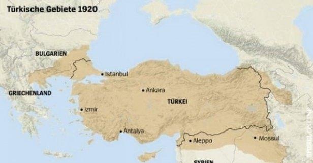 Alman Der Spiegel dergisinden Türkiye skandalı! 1920 haritasını paylaştılar...