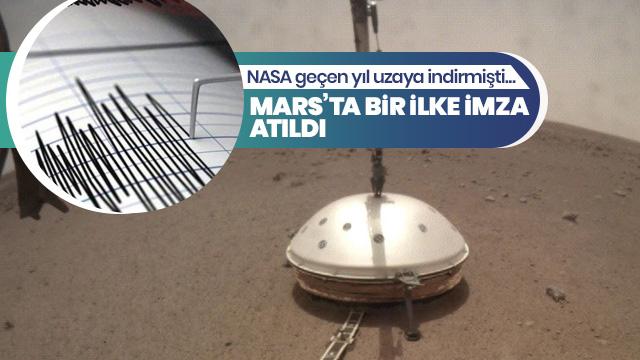 Mars'ta bir ilk!