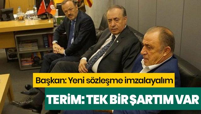 Fatih Terim'den Mustafa Cengiz'e yeni sözleşme için tek bir şart!