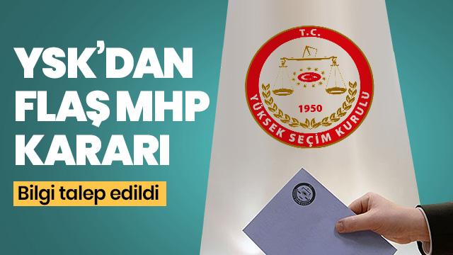 YSK'dan MHP'nin Maltepe itirazı ile ilgili ara karar